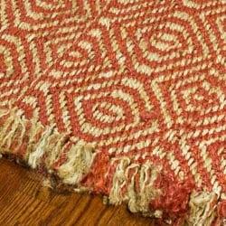 Hand-woven Arts Natural/ Rust Fine Sisal Rug (9' x 12')
