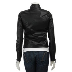 Ashley Womens Faux Leather Zip up Jacket Overstock on PopScreen