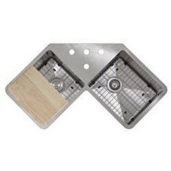 Butterfly Undermount Kitchen Sinks : ... 16-gauge Stainless Steel 44-inch Double Bowl Undermount Kitchen Sink