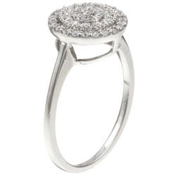 Unending Love 10k White Gold 1/4ct TDW Diamond Cluster Ring (I-J, I1)