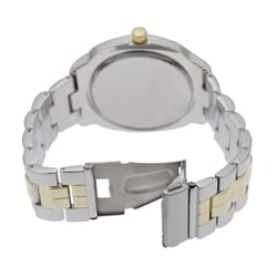 Geneva Platinum Men's Round Face Link Watch