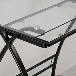 L-Shape Glass Corner Computer Desk