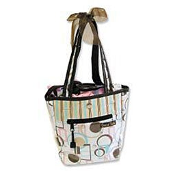 Trend Lab Cocoa Dots Mini-Tulip Tote Gift Set