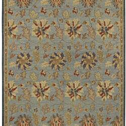 Hand-knotted Legacy Blue New Zealand Wool Rug (9' x 12')