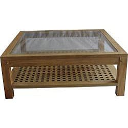 Solid Teak Large Square Coffee Table