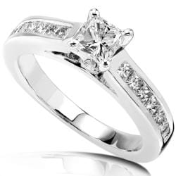 14k Gold 1ct TDW Princess Diamond Engagement Ring (H-I, I1-I2)