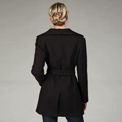 Calvin Klein Womens Belted Wool Coat