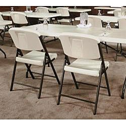 Lifetime Almond Folding Chairs (Pack of 4)