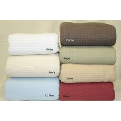 Grand Hotel Machine-washable 100-percent Cotton Blanket