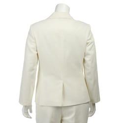 Emily Women's Plus Size Cream Pant Suit