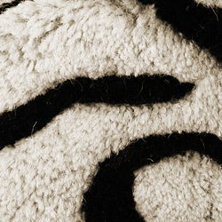 Hand-tufted Black/Ivory Medallion Wool Rug (4' x 6')
