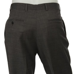 Palm Beach Men's Pleated Grey Wool Dress Trousers