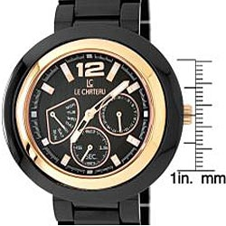 Le Chateau Men's 'La Serenada' Black Ceramic Watch