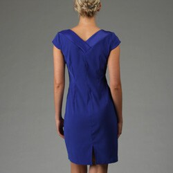 Connected Apparel Women's Double V-neck Dress