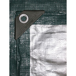 Kotarp Heavy-duty Green/ Silver Poly Tarp (20' x 30')