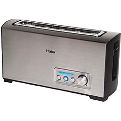 Haier TST120SS Stainless Steel Long Slot Digital Toaster