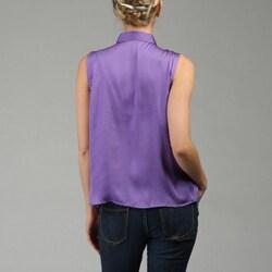 Allura Women's Sleeveless Ruffle-front Top