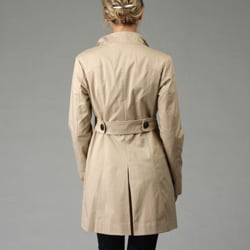 Nine West Women's Asymmetrical Cotton Twill Trench