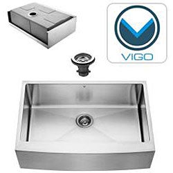Vigo Farmhouse Stainless Steel Kitchen Sink and Faucet