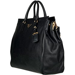fake prada sunglasses for men - Prada Saffiano Soft Leather Tote - 12646796 - Overstock.com ...
