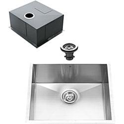 Vigo Undermount 23-inch Stainless Steel Kitchen Sink and Faucet