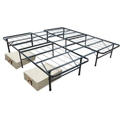 King Mattress Frame and Two Large Storage Units