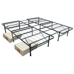 Cal King Mattress Frame and Two Large Storage Units