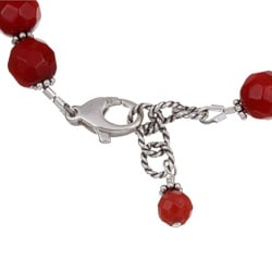 Charming Life Sterling Silver Red Sea Bamboo Coral Bracelet