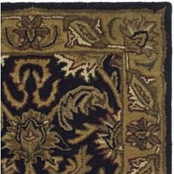 Safavieh Handmade Traditions Black/ Light Brown Wool Rug (2' x 3')