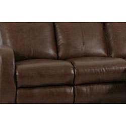 Troy 2-piece Brown Faux Leather Reclining Sofa and Loveseat Set