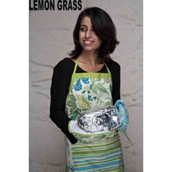 Cotton Patchwork Lemongrass Apron Set (India)