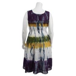magic women's plus size tie dye dress  12677819