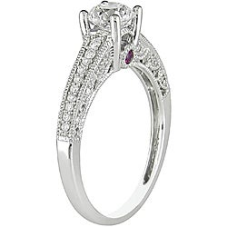 Miadora 14k Gold 1ct TDW Diamond and Pink Sapphire Engagement Ring (H-I, I2-I3)
