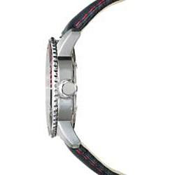 Golana Swiss Men's 'Aqua Pro 200' Steel Case Leather Strap Watch