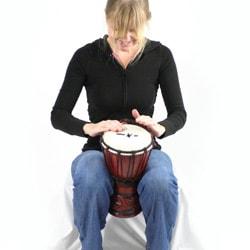 Mahogany Celtic Labyrinth Djembe Drum (Indonesia)