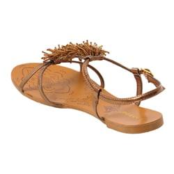Bamboo by Journee Women's 'Darling' Beaded Vamp Sandals