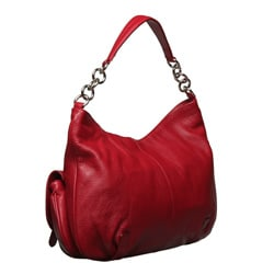 Furla Olympia Leather Hobo Handbag with Silvertone Hardware
