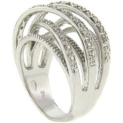 Sterling Silver 1/4ct TDW Diamond Crossover Ring (J-K, I3)