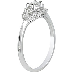 Miadora 14k White Gold 1/2ct TDW Diamond Halo Engagement Ring