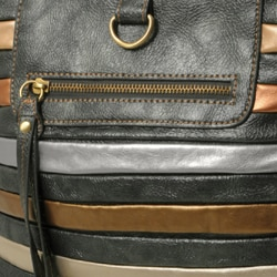 Je Veux Striped 'Tubular' Handbag