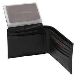 Joe by Joseph Abboud Men's Croc Print Bi-fold Passcase Wallet