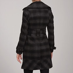 Miss Sixty Women's Plaid Coat
