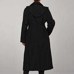 London Fog Women's Plus Size Hooded Trench Coat