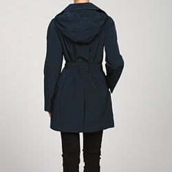London Fog Women's Single-breasted Hooded Coat