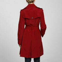London Fog Women's Double-breasted Belted Trench Coat