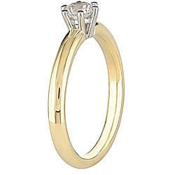 Miadora 18k Gold 1/2ct TDW Diamond Solitaire Engagement Ring (H-I, SI2)