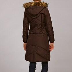 Miss Sixty Women's Faux Fur Trimmed Hooded Parka
