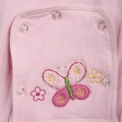 Aegean Infant Girl's Pink Butterfly Long Johns Sleeper