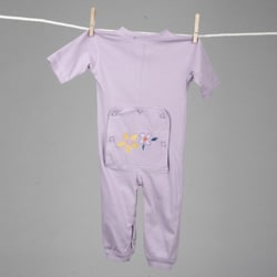 Aegean Infant Girl's Lilac Long Johns Sleeper