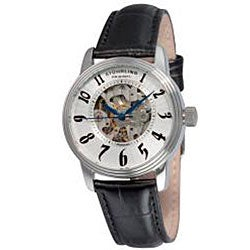 Stuhrling Original Women's Juliet Automatic Black Strap Watch